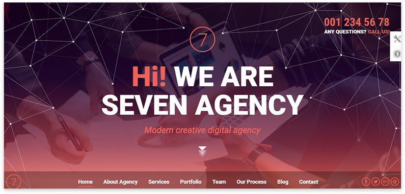шаблон сайта для агенства
