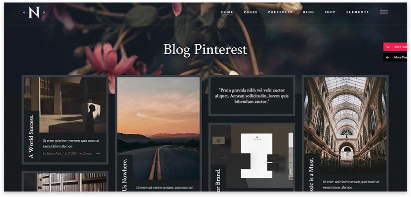блог формата pinterest