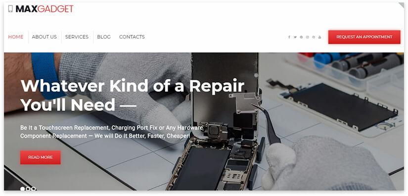 шаблон ремонт компьютеров