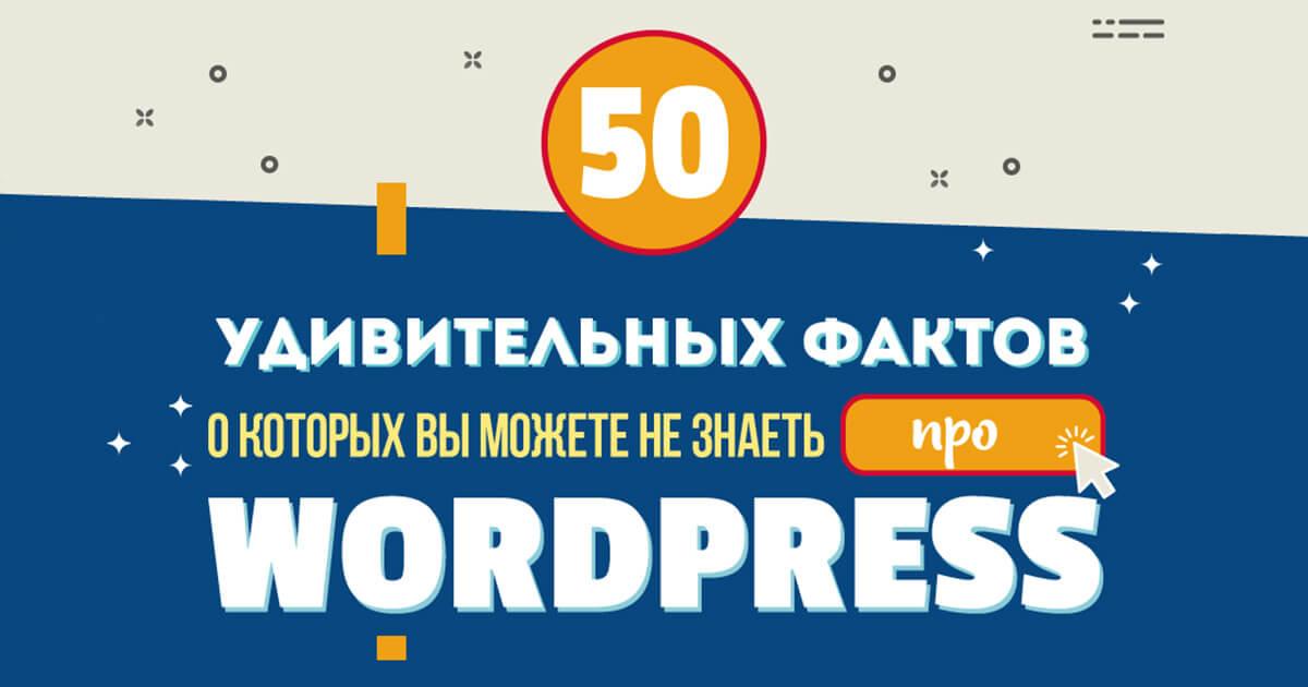 50 фактов о Wordpress