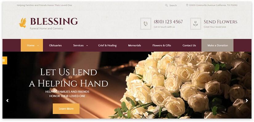 сайт похоронного дома