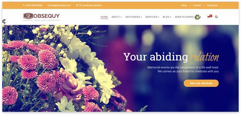 Шаблон для сайта похоронный дом