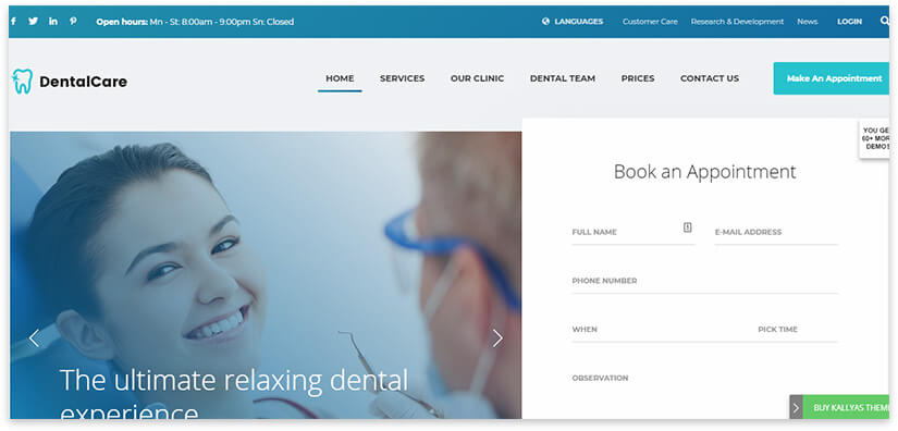 wordpress dentist