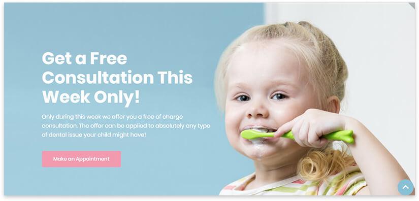 шаблон сайта детской стоматологии