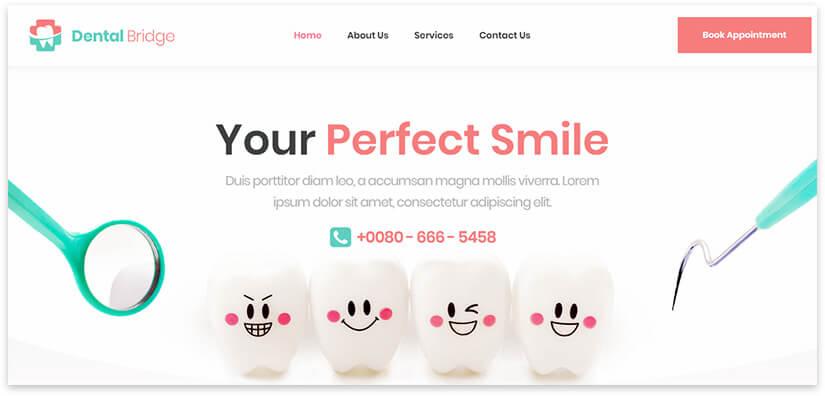 шаблон сайта стоматологии