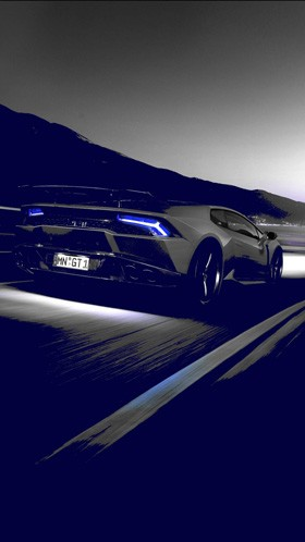 Lamborghini in night