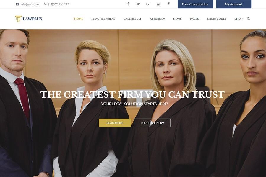 шаблон сайта для суда