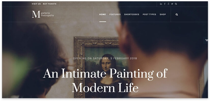 шаблон для сайта галереи 2018