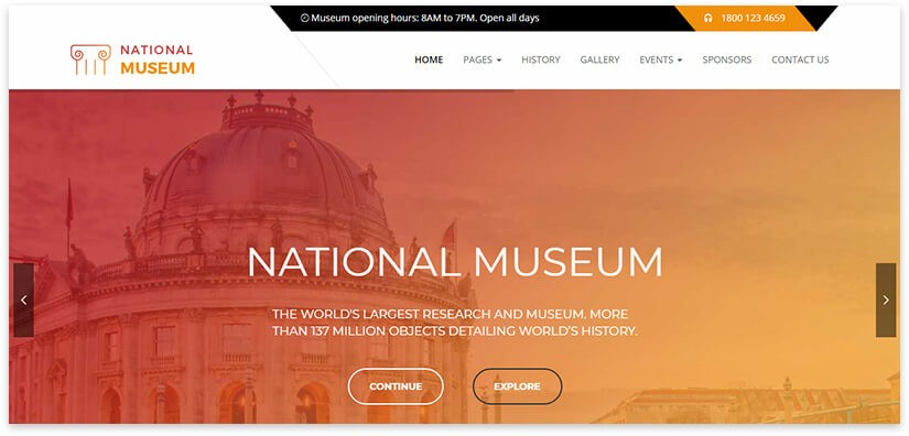 museum wordpress