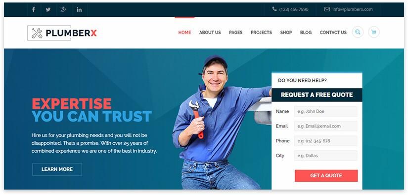 plumber wordpress