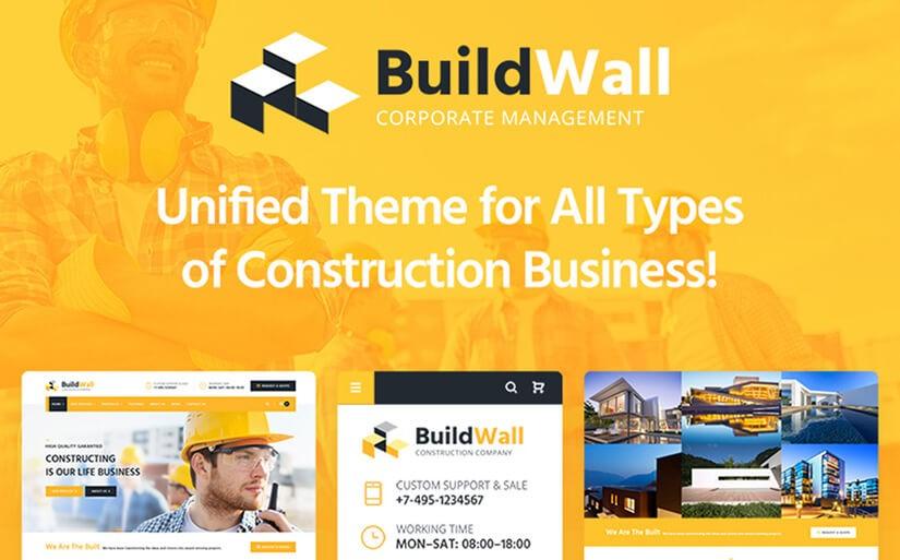 строительный шаблон сайта