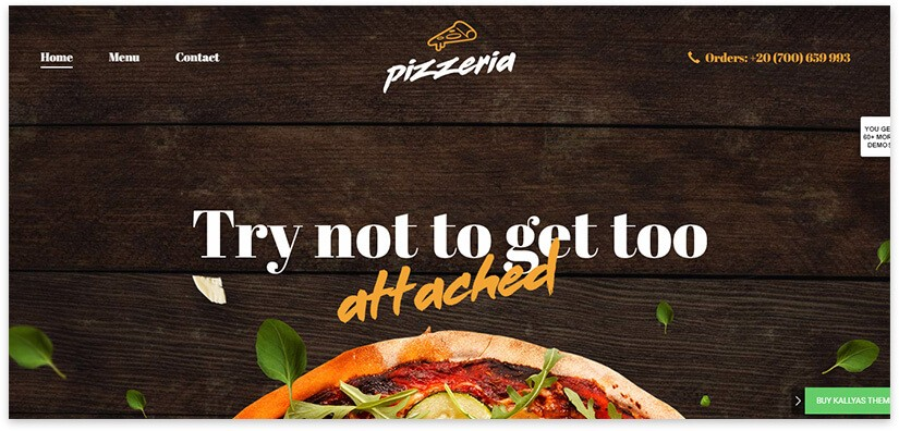 шаблон для сайта пиццерии