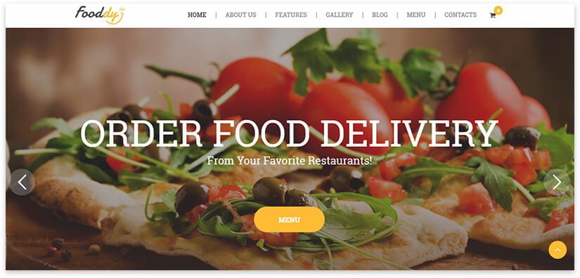 доставка еды шаблон сайта