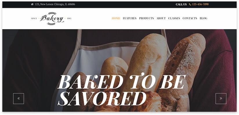 веб-сайт пекарни
