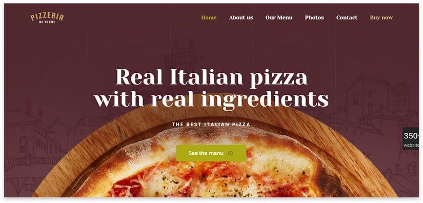 Сайт итальянской пиццы