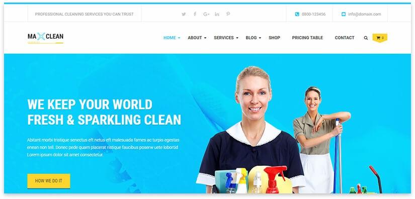 Сайт для компании по уборке