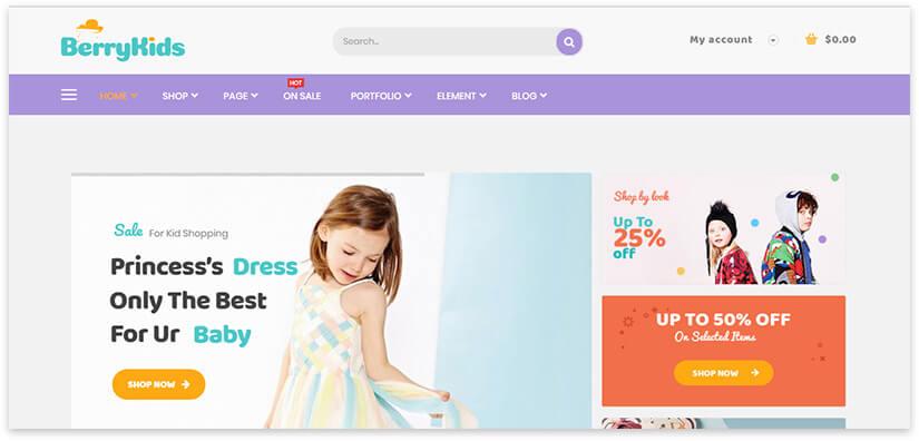 онлайн шоп детских товаров