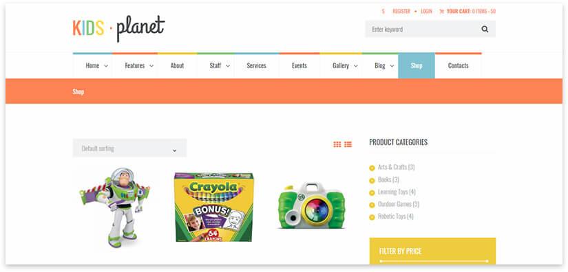 743c326654a1 20 шаблонов детского интернет магазина на Wordpress