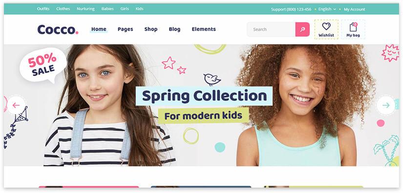 красивый интернет магазин для детских товаров