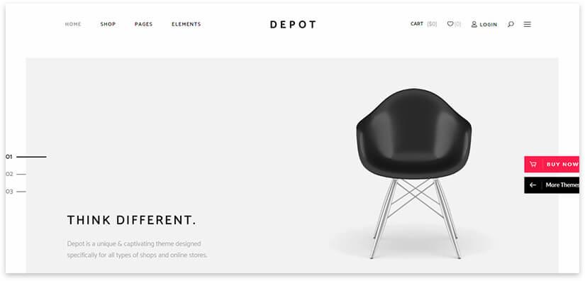 Шаблон сайта дизайн интерьера