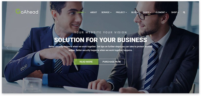 Шаблон для сайта по финансам