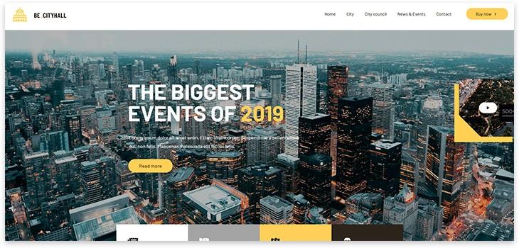 10+ шаблонов для городского портала на WordPress 2021 года