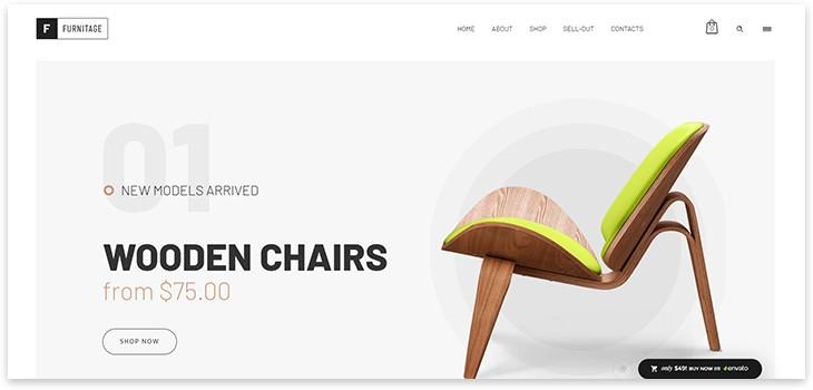 тема для магазина мебели