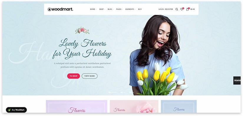 woodmart шаблон цветов