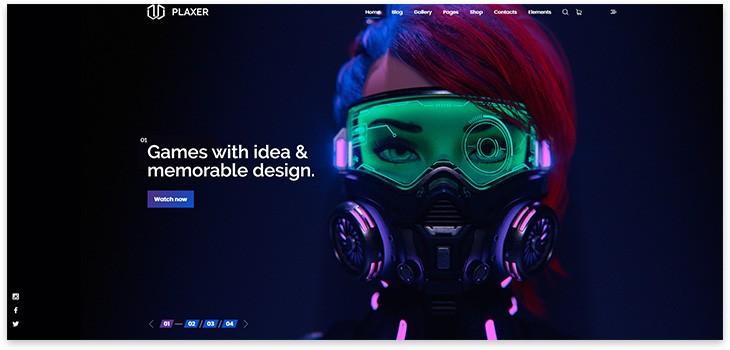 Шаблон сайта для игр