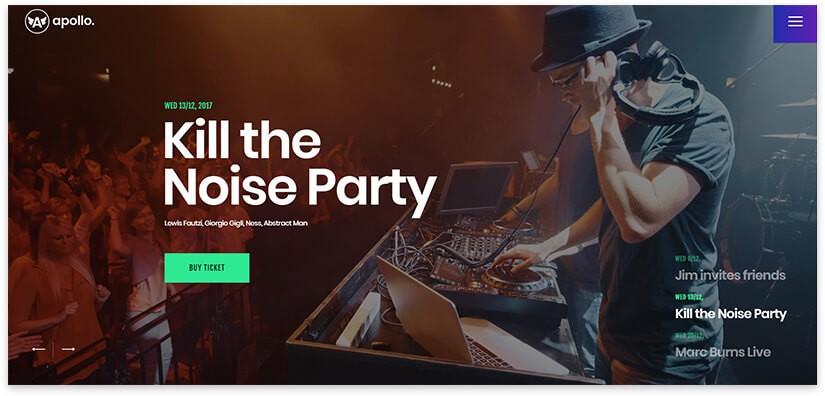Шаблон сайта для ночного клуба