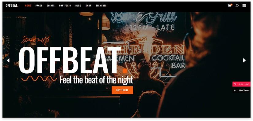 bar wordpress theme