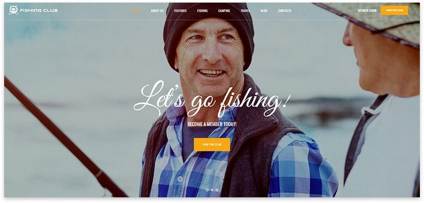 Шаблон про рыбалку
