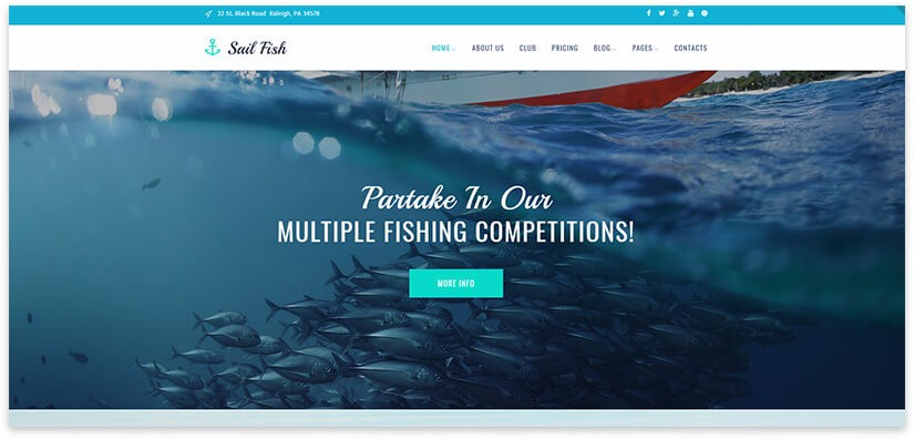 fishing wordpress