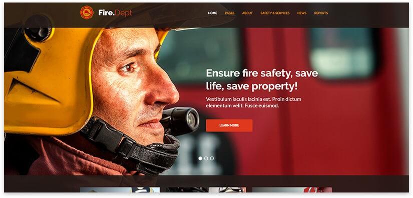 шаблон сайта пожарной охраны