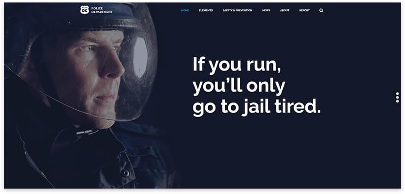шаблон сайта полиции