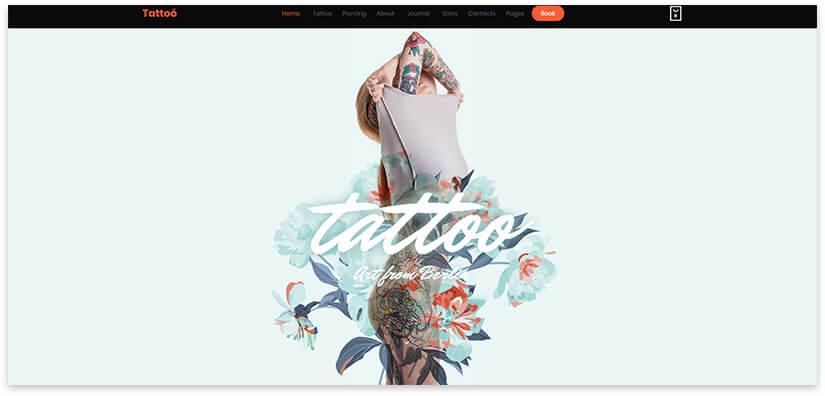 шаблон сайта tattoo studio
