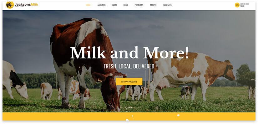 продажа молока лендинг