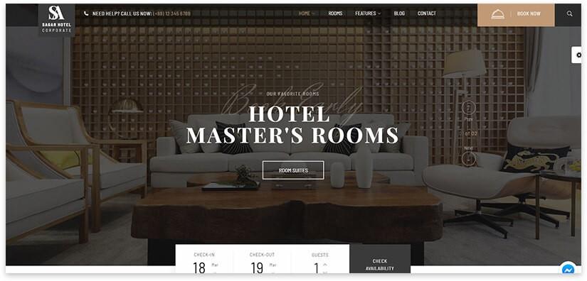 Отель шаблон wordpress
