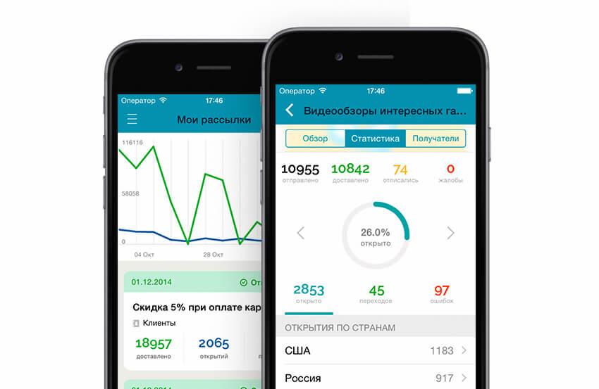 Мобильное приложение СендПульс