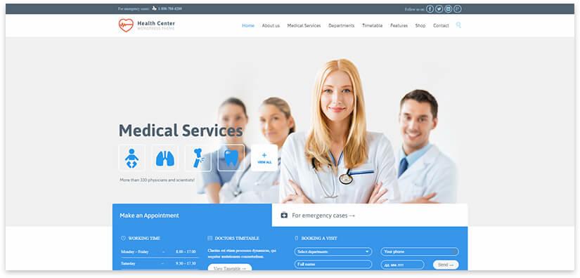 медицинский сайт Вордперсс