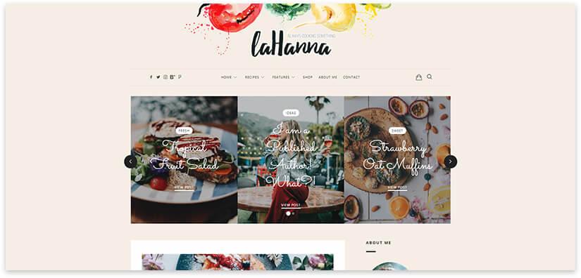Блог про еду Elementor