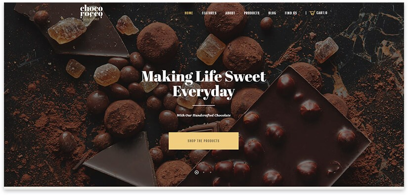 Wordpress шаблон шоколад