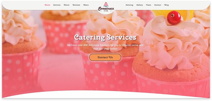Wordpress шаблон торты
