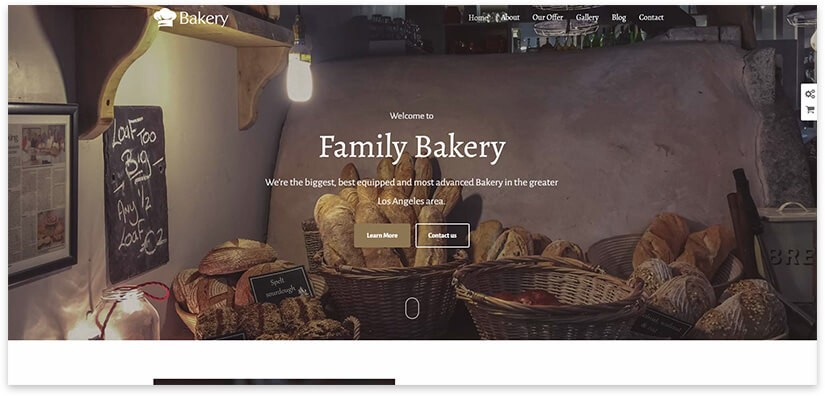 bakery wordpress