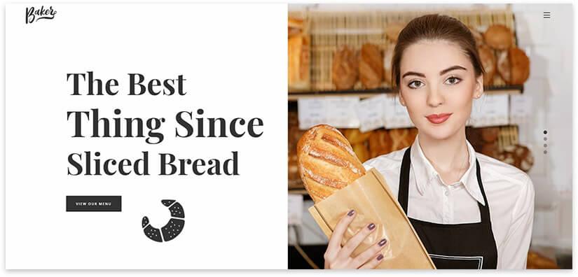Шаблон сайта свежий хлеб