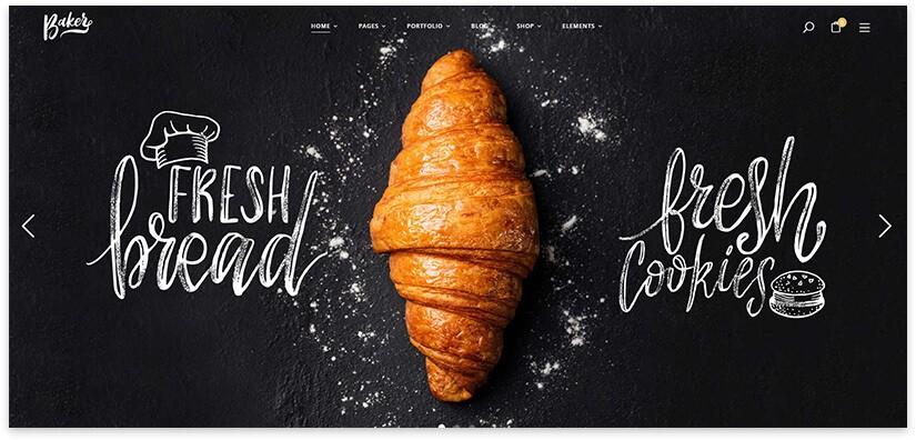 Шаблон сайта булочной