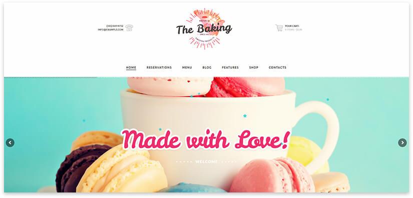 Wordpress шаблон про пирожные