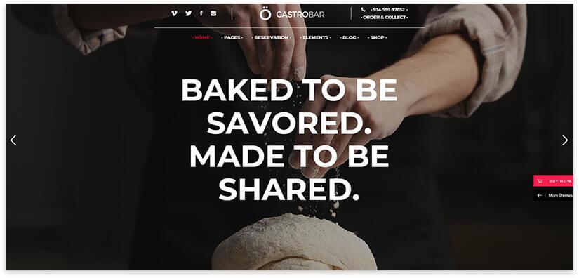 Wordpress шаблон пекарни