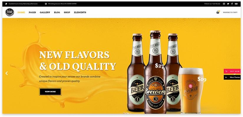 шаблон сайта пивоварни