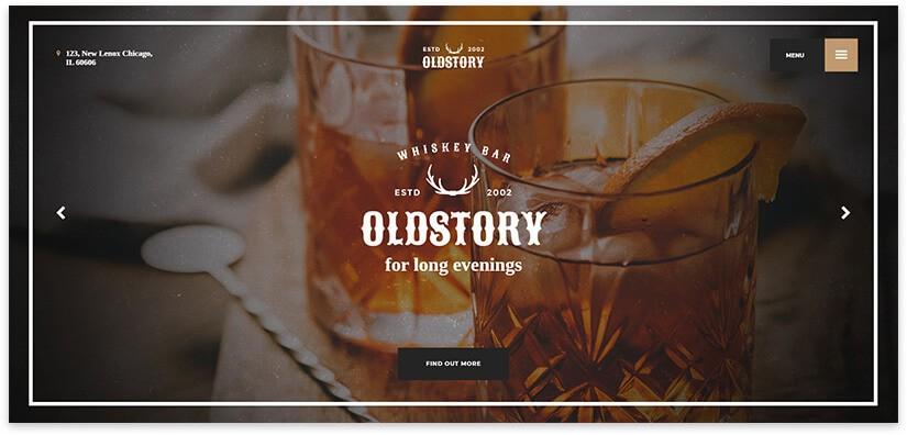 Сайт для виски